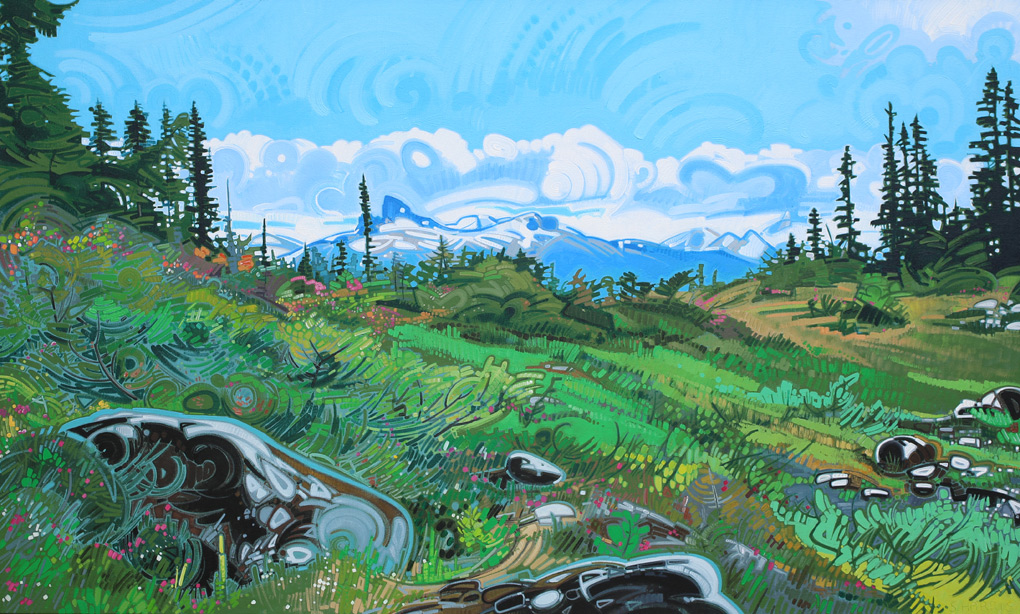 "Image of painting: ""View Of Black Tusk From Brandywine Meadows - One"""