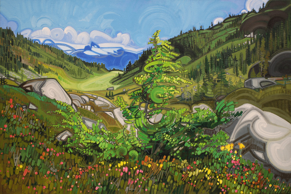 "Image of painting: ""View Of Black Tusk From Brandywine Meadows - Two"""