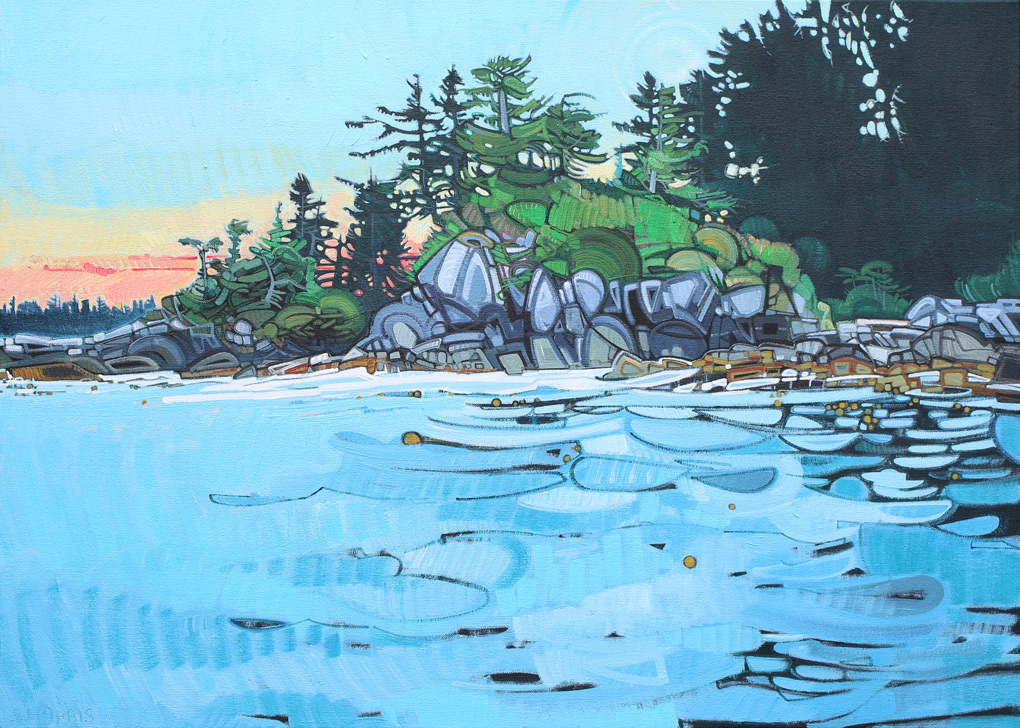 "Image of painting ""On The Waters Of Englefield Bay - Westcoast Of The Haida Gwaii"""