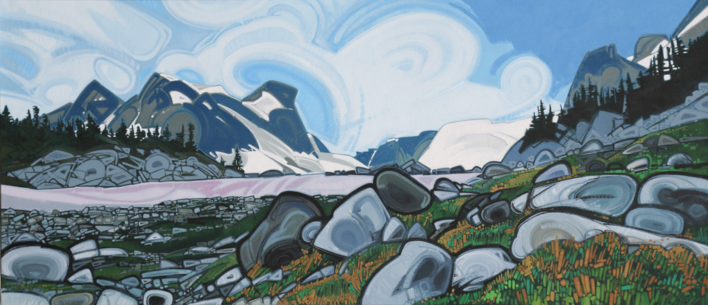 "Image of painting: ""Cerise Creek - Seven"""