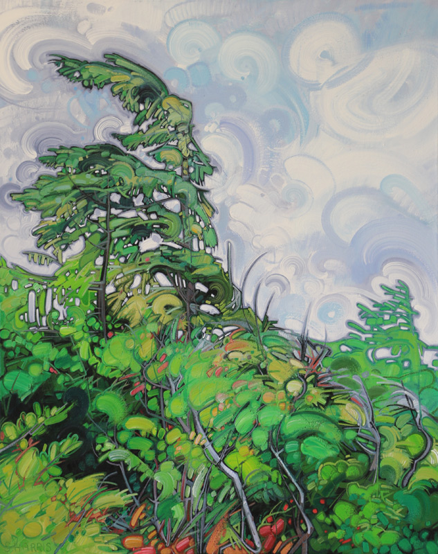 "Image of painting: ""Coastal Forest - One"""