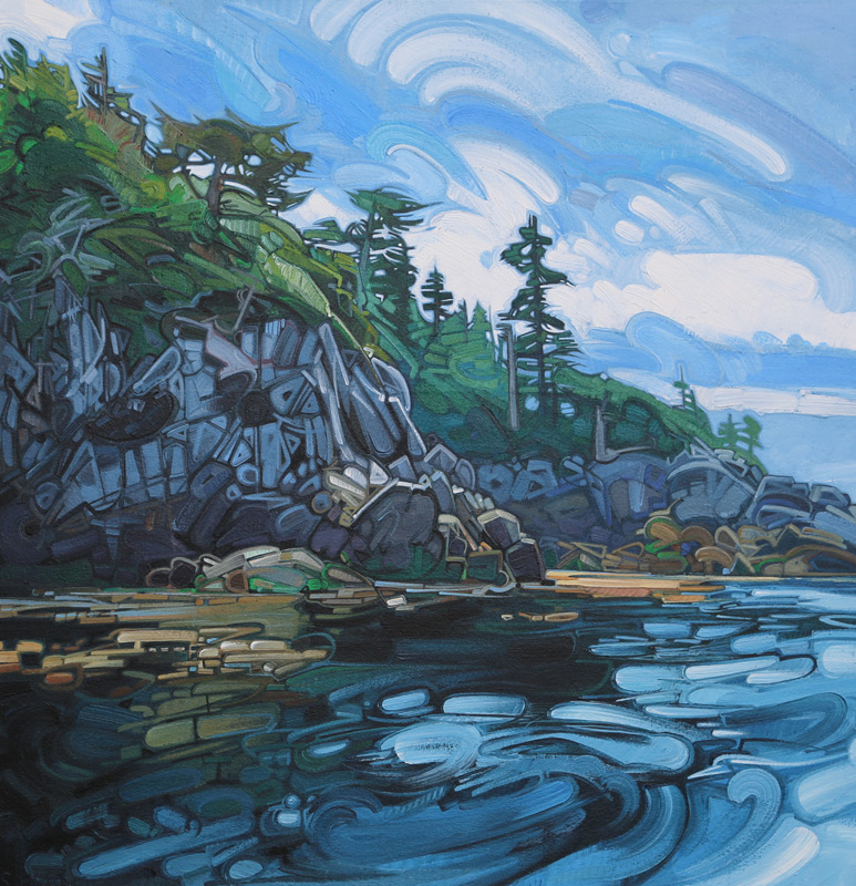 "Image of painting: ""Great Bear Rainforest - One"""