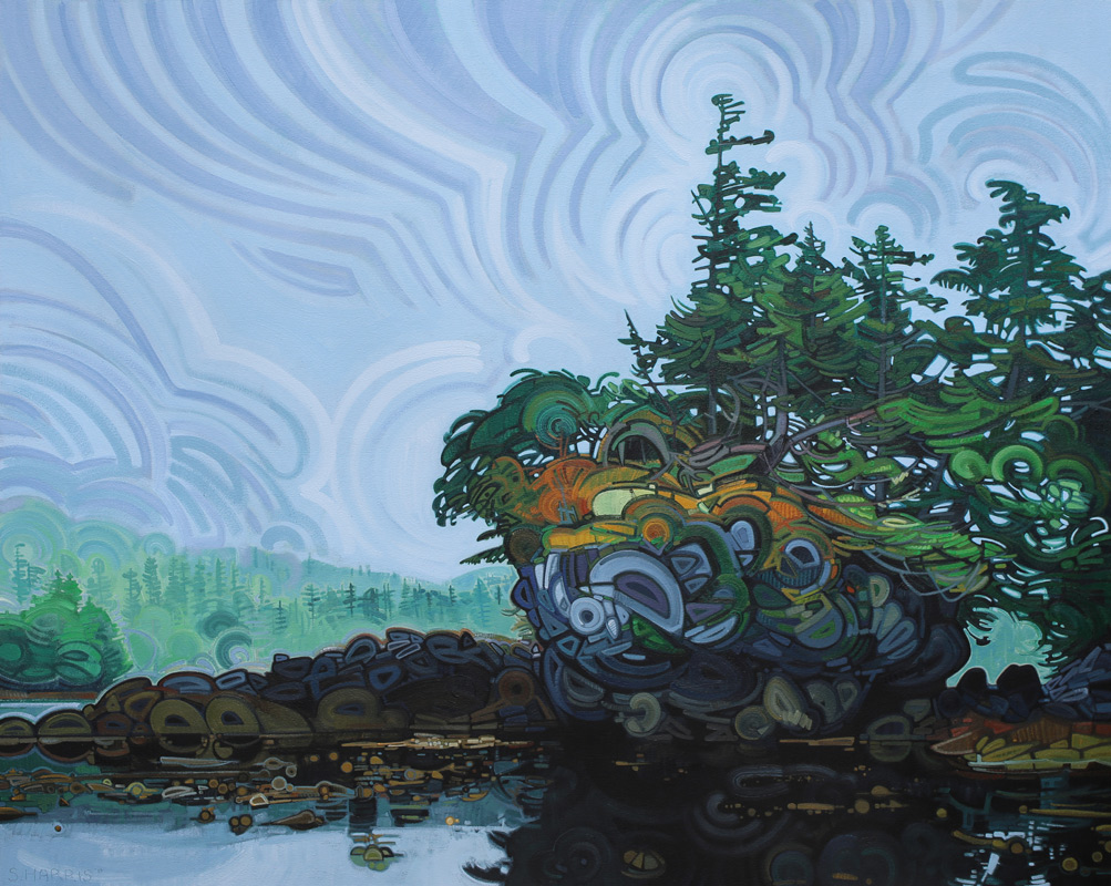 "Image of painting: ""Haida Gwaii - Two"""