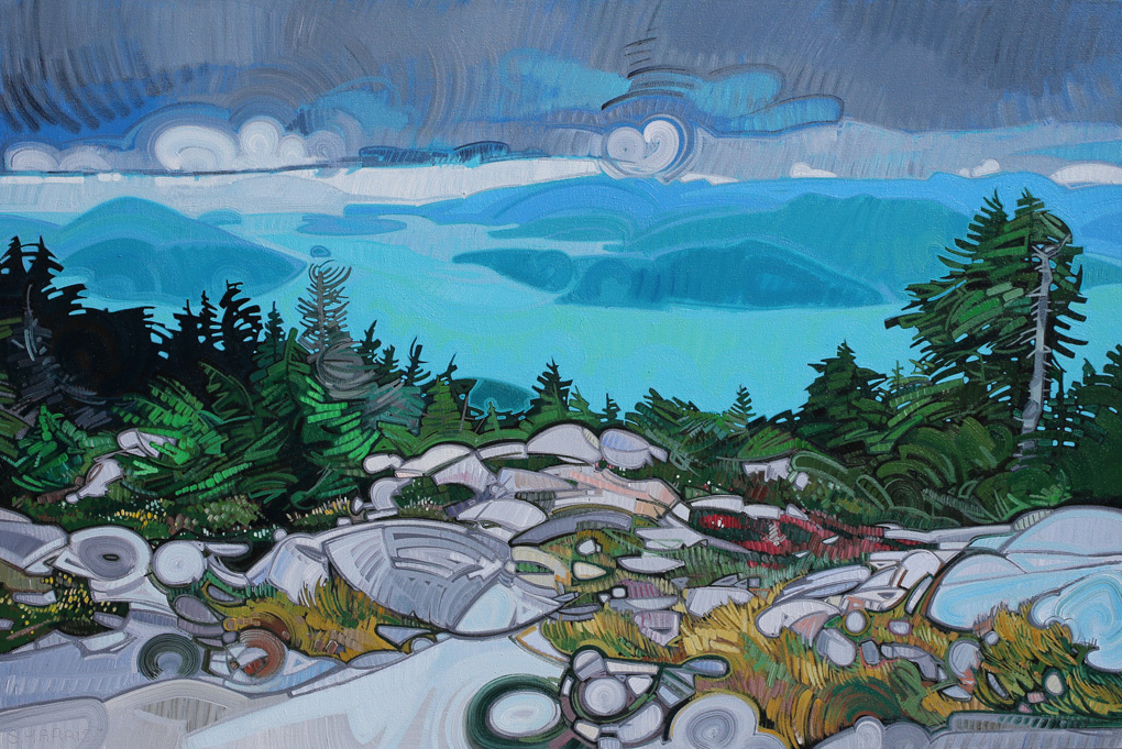 "Image of painting: ""View Overlooking Howe Sound - One"""