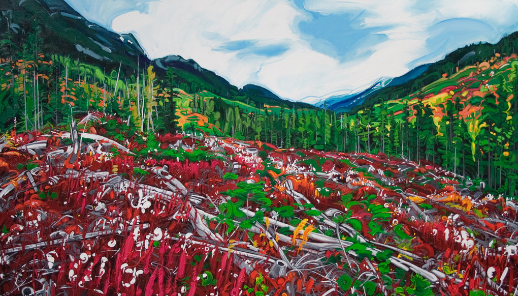 "Image of painting: ""Hurley Pass - Eight"""