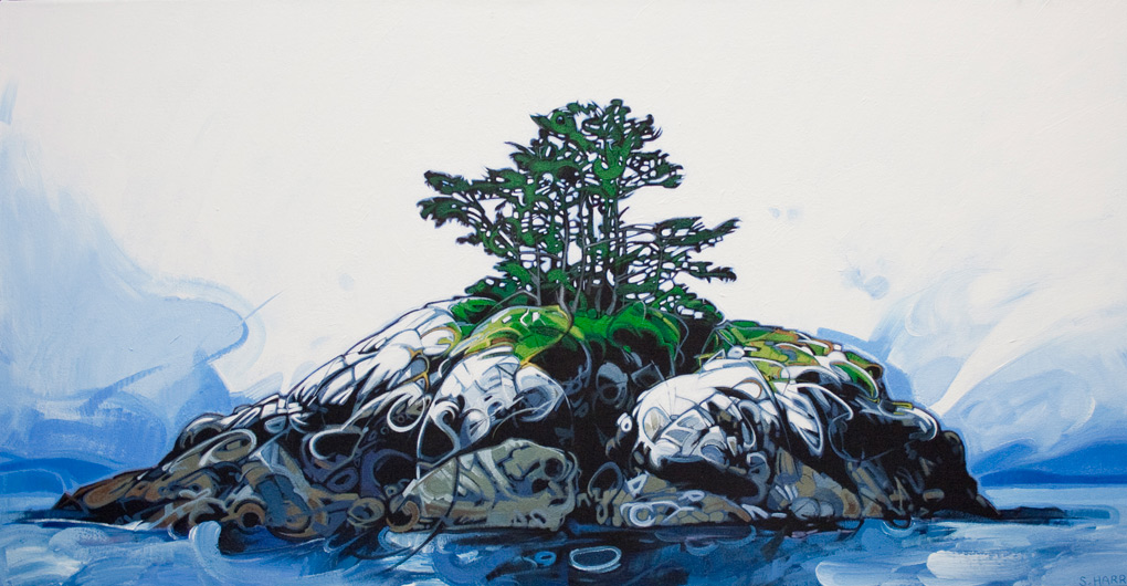 "Image of painting: ""Island - Five"""