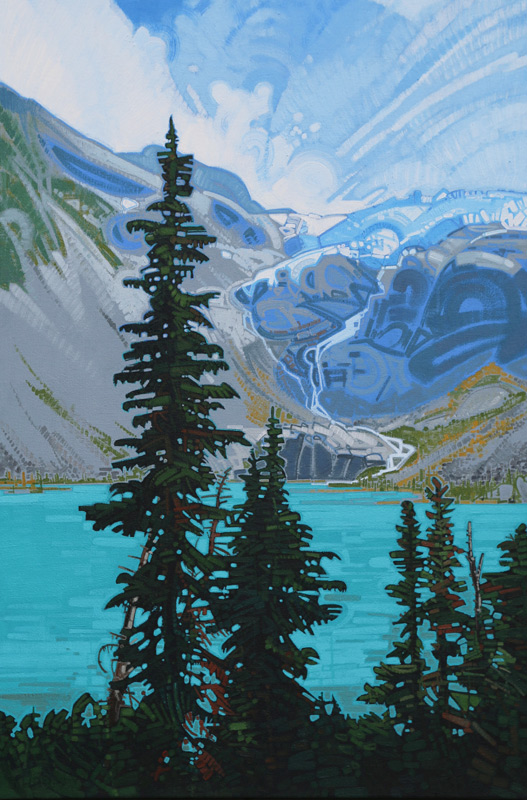 "Image of painting ""Joffre Lakes - Three"""