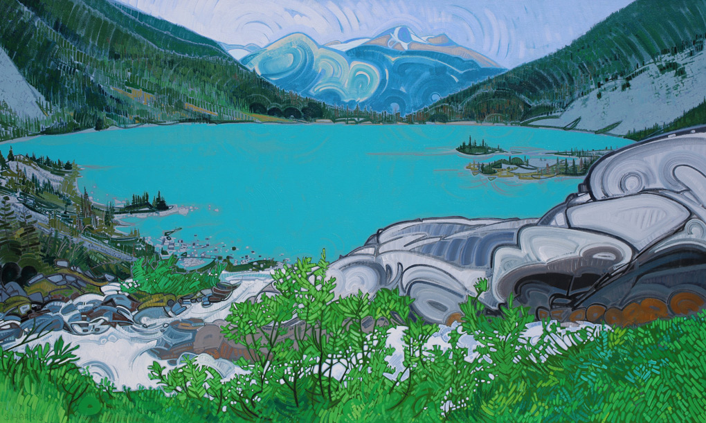 "Image of painting ""Joffre Lakes - Four"""