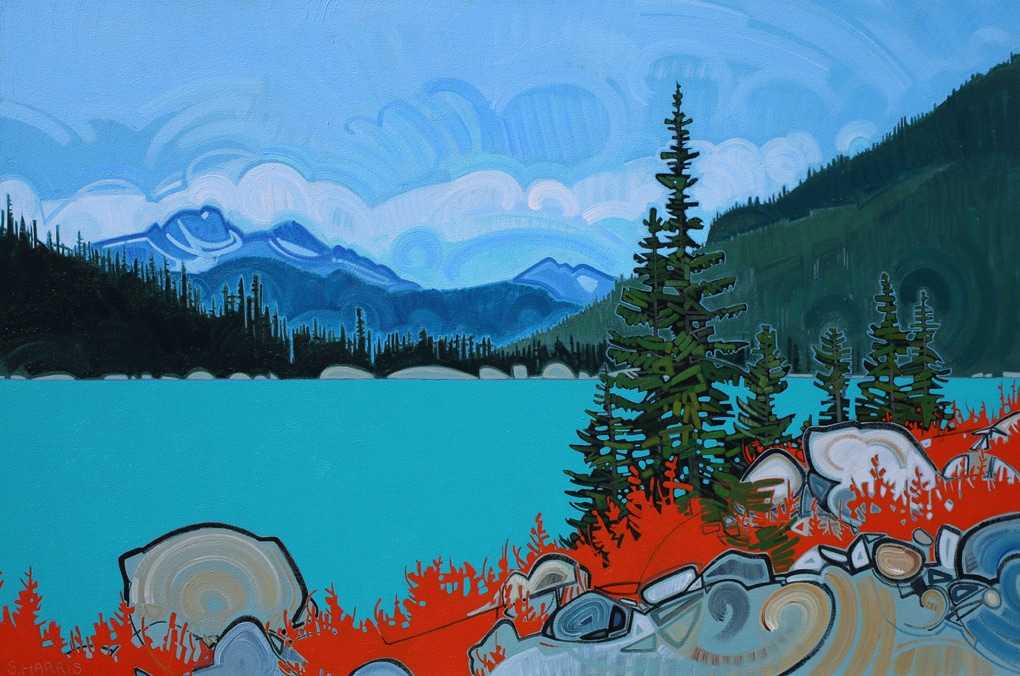 "Image of painting ""Joffre Lakes - Five"""