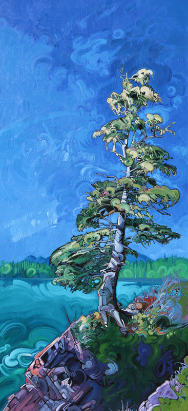 "Image of painting: ""Lone Tree - Three"""