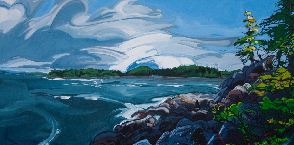 "Image of painting: ""MacKenzie Beach - Three"""