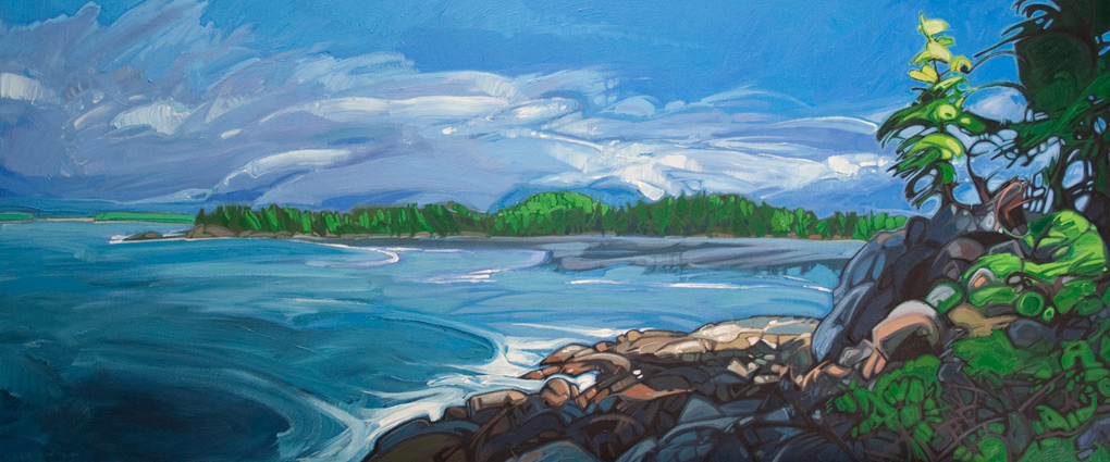 "Image of painting: ""MacKenzie Beach - Eight"""