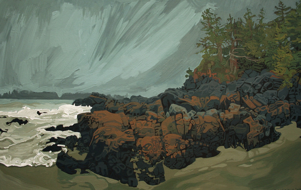 "Image of painting: ""Middle Beach - One"""