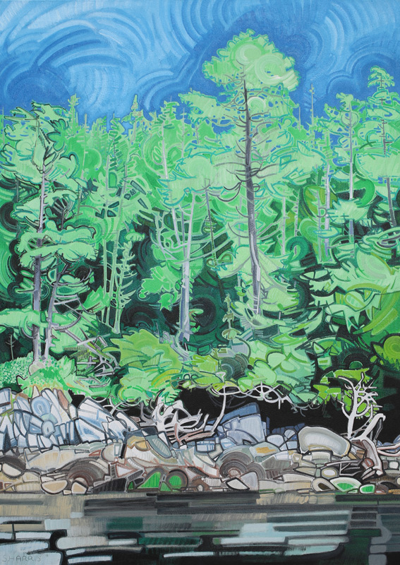 "Image of painting: ""Great Bear Rainforest - Two"""