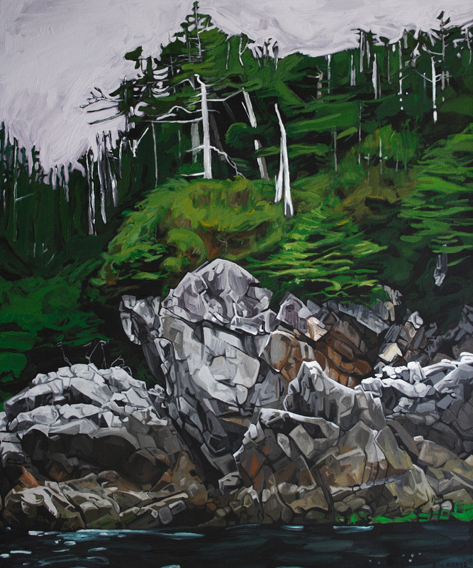 "Image of painting: ""Rock Face"""