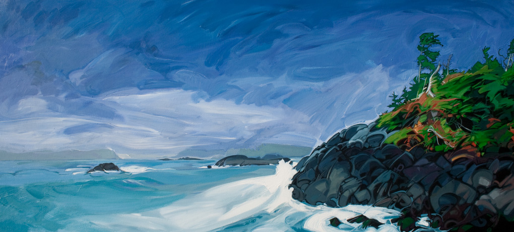 "Image of painting: ""Stormy Island Wave"""