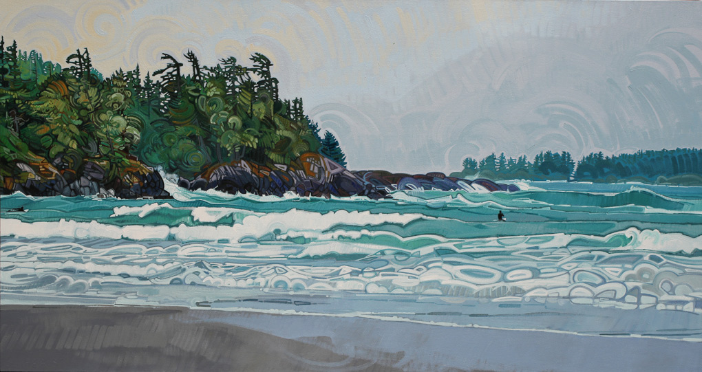 "Image of painting ""Surfing In Tofino - Two"""