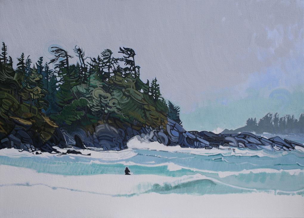 "Image of painting ""Surfing In Tofino - One"""