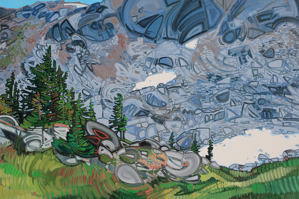 "Image of painting ""Wells Gray Scree Slope"""