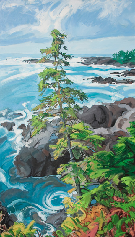 "Image of painting: ""Wild Pacific Tree - One"""