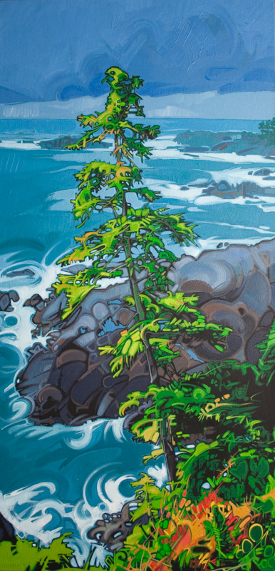 "Image of painting: ""Wild Pacific Tree - Two"""