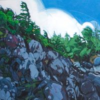 "Link to full size image of ""MacKenzie Beach"" painting created for an Auction Fundraiser."