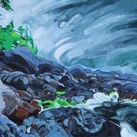 "Link to full size image of ""Dark Stormy Shore"""