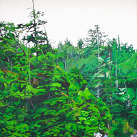 "Link to full size image of ""Green Coast"" painting created for an Auction Fundraiser."