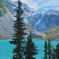 "Link to full size image of ""Joffre Lakes - Three"""
