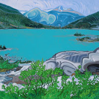 "Link to full size image of ""Joffre Lakes - Four"""