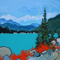"Link to full size image of ""Joffre Lakes - Five"""