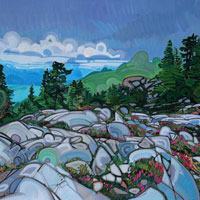 "Link to full size image of ""Looking At The Lions And Howe Sound From Mount Unnecessary"""