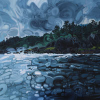 "Link to full size image of ""On The Waters Of Englefield Bay, Westcoast Of The Haida Gwaii"""