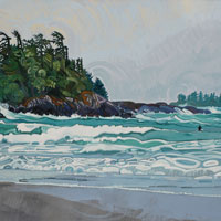"Link to full size image of ""Surfing In Tofino - Two"""