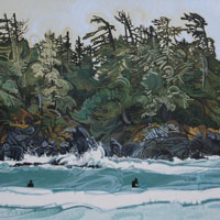 "Link to full size image of ""Surfing In Tofino - Three"""